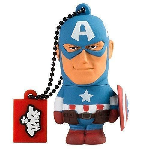 Oferta: 4.05€ Dto: -62%. Comprar Ofertas de Tribe Disney Marvel Avengers Captain America - Memoria USB 2.0 de 8 GB Pendrive Flash Drive de goma con llavero, color azul barato. ¡Mira las ofertas!