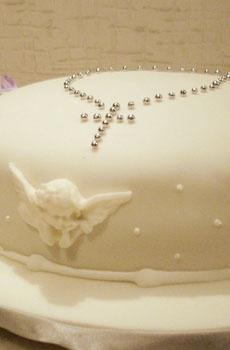 ...me gusta el rosario de grajeas plateada