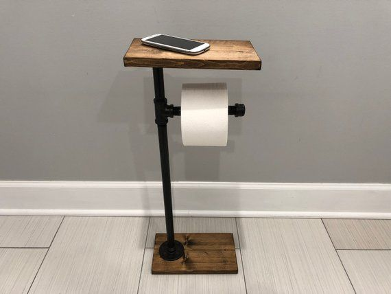Toilet Paper Stand With Shelf Tp Holder Paper Dispenser Etsy Toilet Paper Stand Diy Toilet Paper Holder Toilet Paper Holder Stand