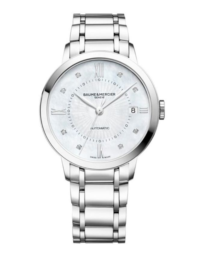 Model:Classima Lady Automatic Ref. M0A10221 Movement:Automatic Gender:Female Complications:Date, Minute Hand, Second Hand, Hour Hand Shape:Round Case Material:Stainless Steel Dail colour:Mother of Pearl with Diamond Hourmarkers Size:36.50 mm Material:Stainless Steel Price:€ 2 800 @colmanwatches