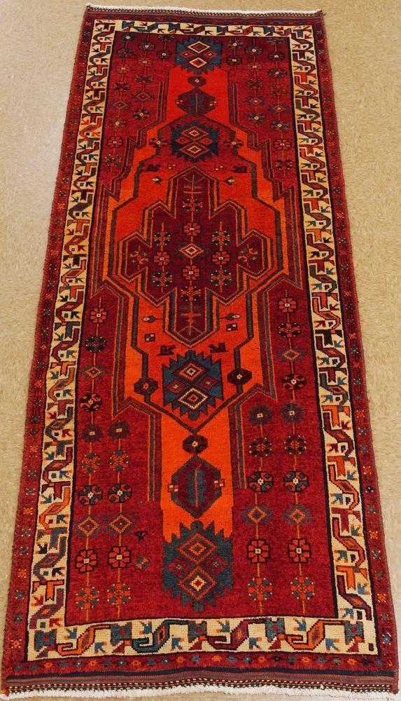 Persian Shiraz Tribal Hand Knotted Wool Orange Ivory Oriental Rug