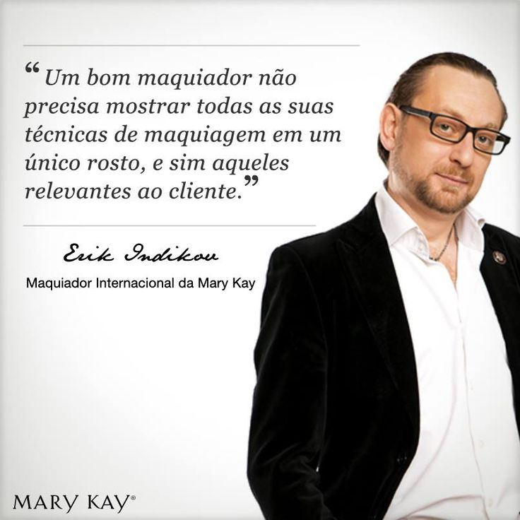 dica do maquiador renomado Erik Indikov. #marykaybrasil #marykay