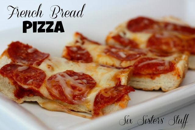 EASY French Bread Pizza on SixSistersStuff.com