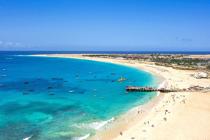 The massive beach at Santa Maria on Sal Island | Cape Verde's best beaches, island by island guide | Weather2Travel.com #travel #beach #capeverde #holiday