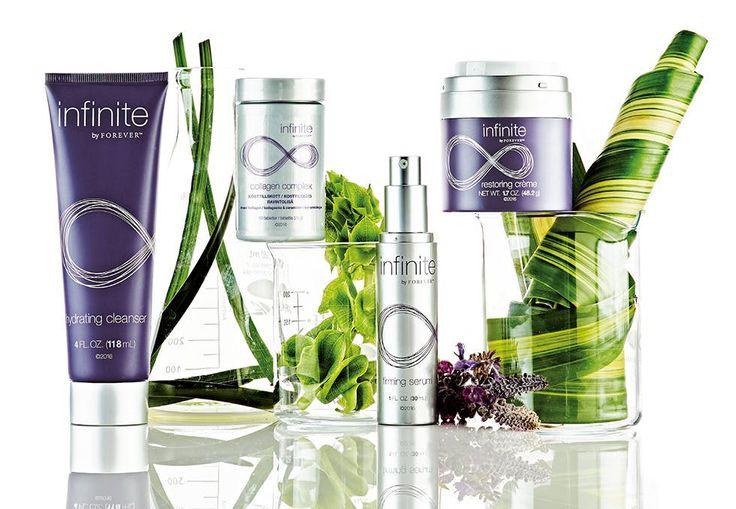 Med Aloe vera i verdensklasse og innovativ vitenskap har infinite by Forever skapt en komplett og helt spesiell hudpleieserie.