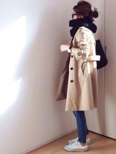 MAISON DE REEFERのトレンチコート「ベーシックトレンチコート」を使ったmayumiのコーディネートです。WEARはモデル・俳優・ショップスタッフなどの着こなしをチェックできるファッションコーディネートサイトです。