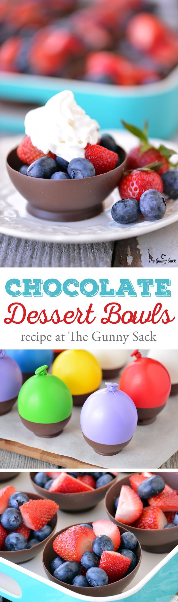 These Chocolate Dessert Bowls are made by dipping balloons in chocolate! The recipe is easy to follow and chocolate bowls can be filled with fresh fruit. @target #TargetCrowd #sponsored