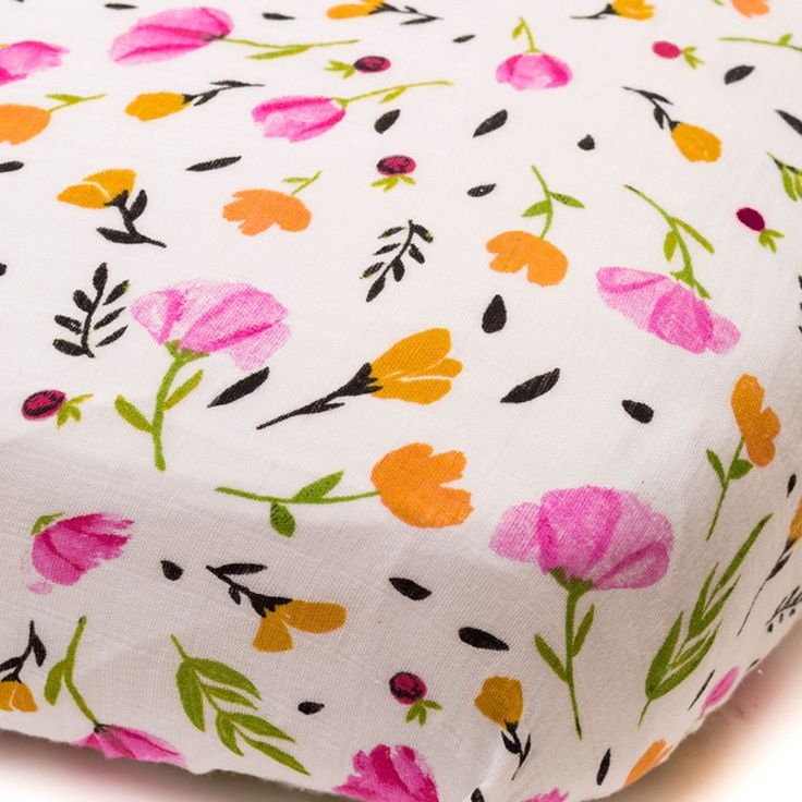 Cotton Muslin Crib Sheet In Berry Amp Bloom Such A Pretty