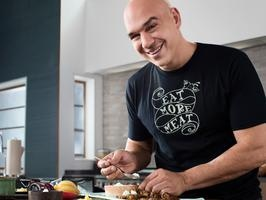Chef Michael Symon: the man is a cooking god. And he's from the motherland: Cleveland!