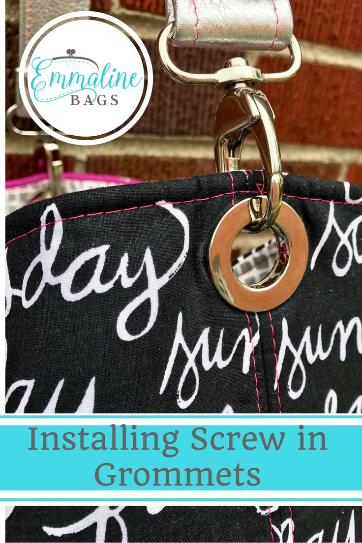 How to install Screw Grommets tutorial for Emmaline Bags