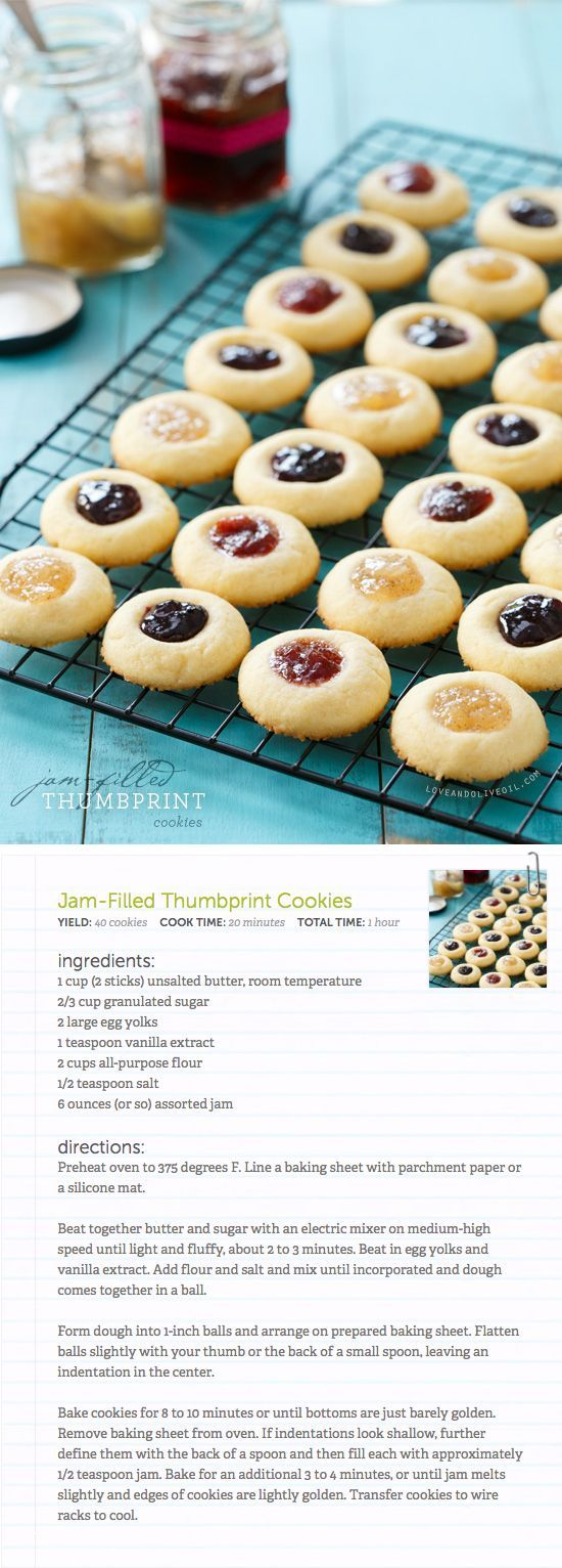 Jam-Filled Thumbprint Cookies: