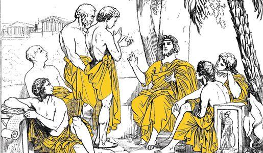 El término sofista, del griego sophía, «sabiduría» y sophós, «sabio», es el nombre dado en la Grecia clásica al que hacía profesión de enseñar la sabiduría. Sophós y Sophía en sus orígenes denotaban una especial capacidad para realizar determinadas tareas como se refleja en la Ilíada. Más tarde se atribuiría a quien dispusiera de inteligencia práctica y era un experto y sabio en un sentido genérico.
