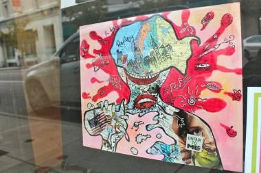 Artwork created by Lincoln Park High School students  Window Display