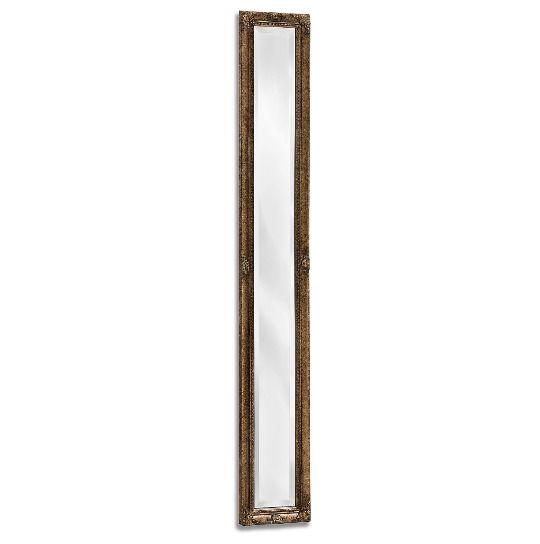 Full Length Wall Mirror Dressing Room Slim Ornate Antique Rectangle Hallway Gold