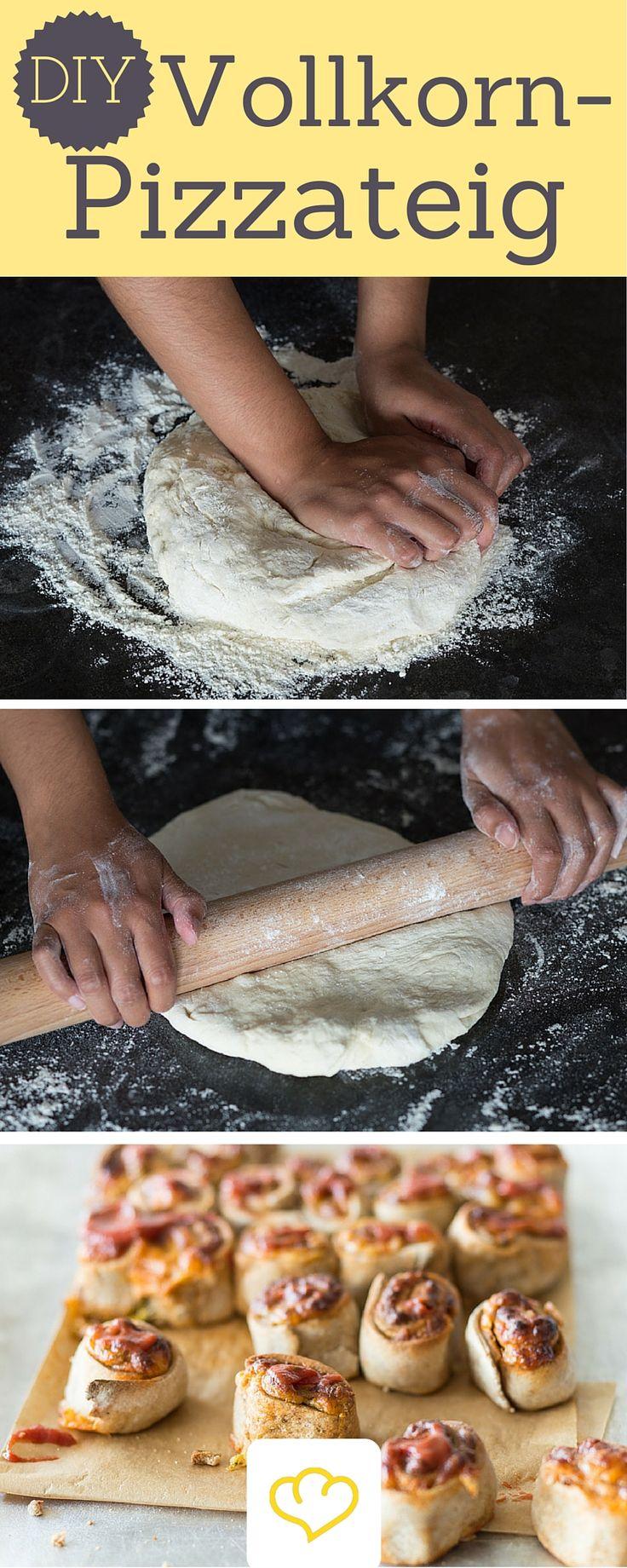 Pizza geht auch gesund! Diesen leckere Vollkorn-Boden, belegt mit frischen Zutaten, kann man ohne schlechtes Gewissen genießen!