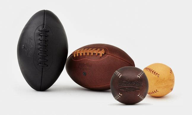 Leather Head Sports Footballs and Baseballs   Cool Material