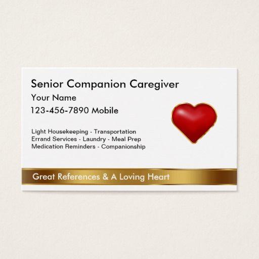 186 best nurse business cards images on pinterest business cards classy caregiver business cards colourmoves Choice Image