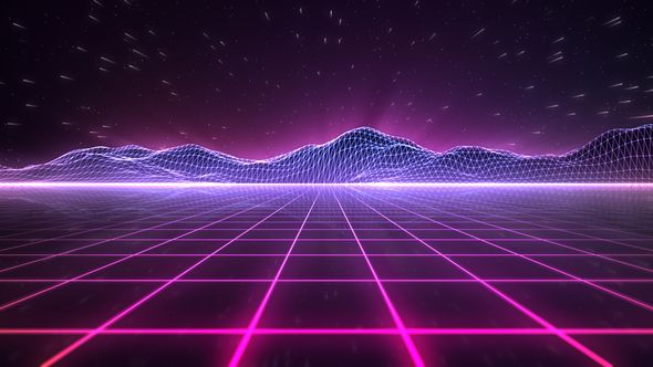 Image result for outrun palm trees Retro background