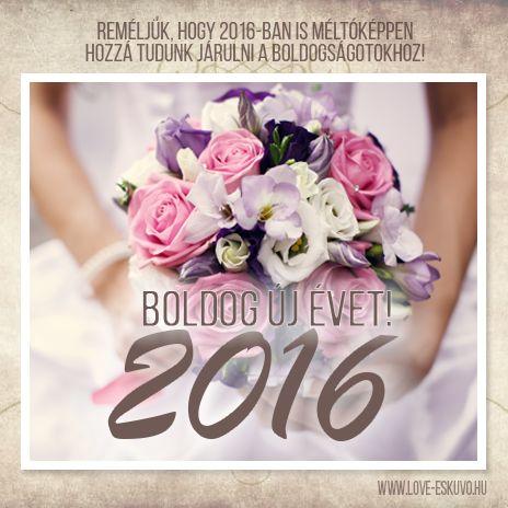 BOLDOG ÚJ ÉVET! Legyen csodálatos évetek! Mi 2016-ban is azon dolgozunk, hogy méltóképpen hozzá tudjunk járulni a boldogságotokhoz. :) #hello2016 #boldogújévet