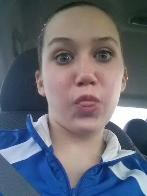 Jacki being goofy on our way to a tourney