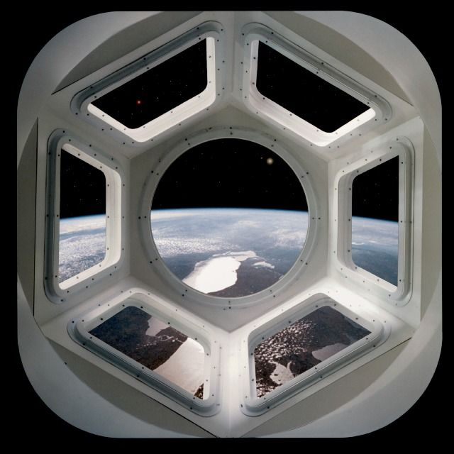 "andi-b: ""bellebelle: "" classics: "" gkojaz: "" sciencefiction: "" The cupola of the International Space Station. Fuck, man, this is a real thing! "" """