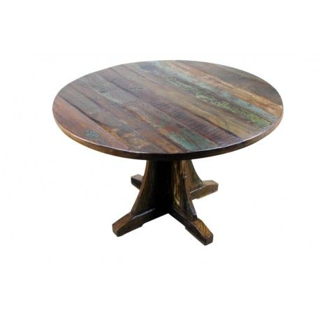 mexicali rustic wood dining table 48 round tables. beautiful ideas. Home Design Ideas