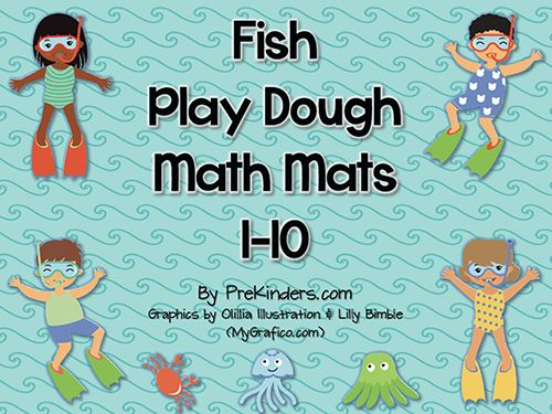Fish Play Dough Counting Mats (free; from PreKinders)