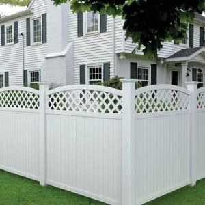 best from the home depot veranda ft x ft lewiston arched lattice top vinyl fence panel with home depot fence