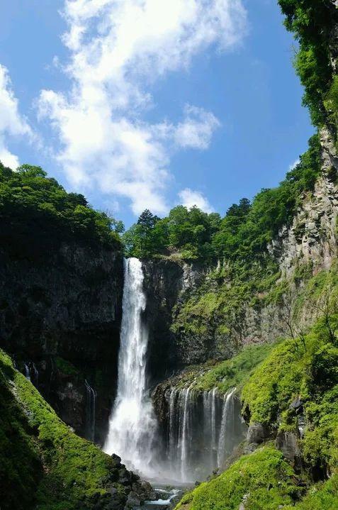 Kegon Falls (97 m height) on Daya River - Nikko National Park, near Nikko, Japan