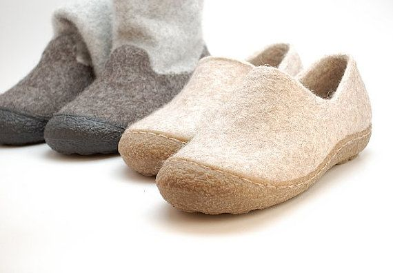 Rubber toe soles for my felted clogs and booties - Winter shoes, snow boot soles