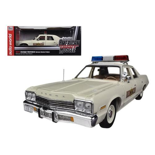 1974 Dodge Monaco Illinois State Police Car Limited to 2000pc 1/18 Diecast Model Car by Autoworld