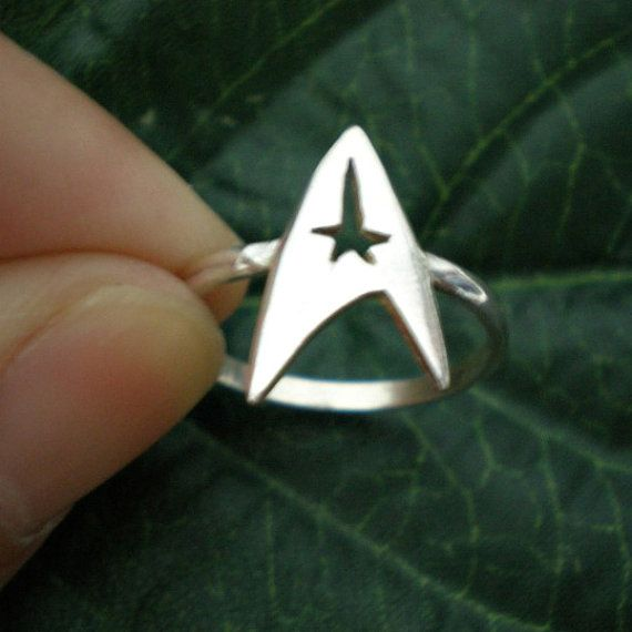 Star Trek Engagement Or Wedding Ring Command Insignia By Yhtanaff 3200