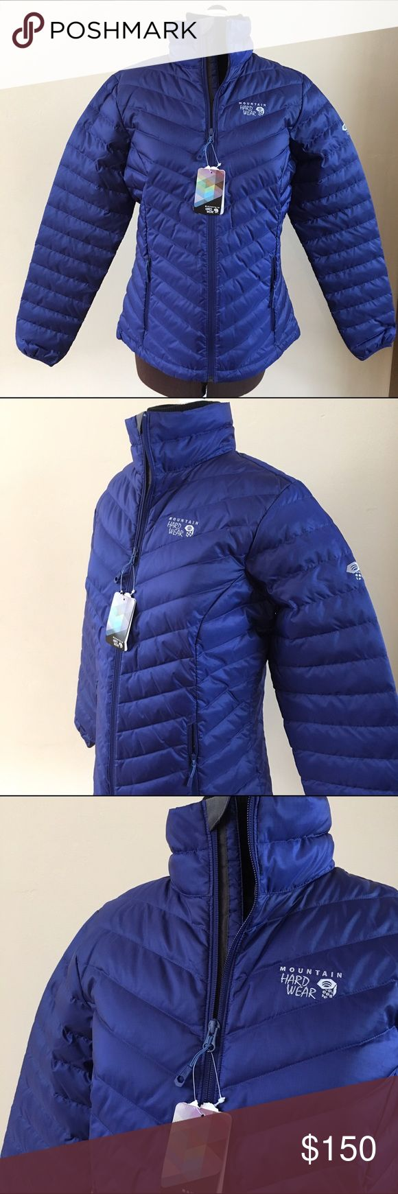 ❄️🎅🏻 NWT MOUNTAIN HARD WEAR DOWN JACKET ❄️🎅🏻 NEW duck down jacket from Mountain Hard Wear. Just in time for Christmas and Winter weather. Beautiful deep purple. Front zipper and 2 side zipper pockets. Black interior lining. 75% duck down and 25% duck feathers. Will keep you super warm and stylish all Winter. Size Medium. Mountain Hard Wear Jackets & Coats Puffers