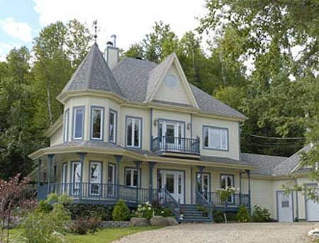 Plan W80449PM: Metric, Country, Narrow Lot, Victorian, Canadian, Photo Gallery House Plans & Home Designs