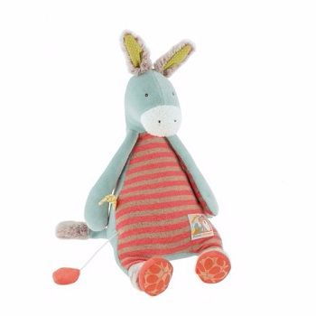 Moulin Roty Biscotte et Pompom Musical Donkey $62.95 #sweetcreations #baby #toddlers #kids #softtoys #toys #cuddle