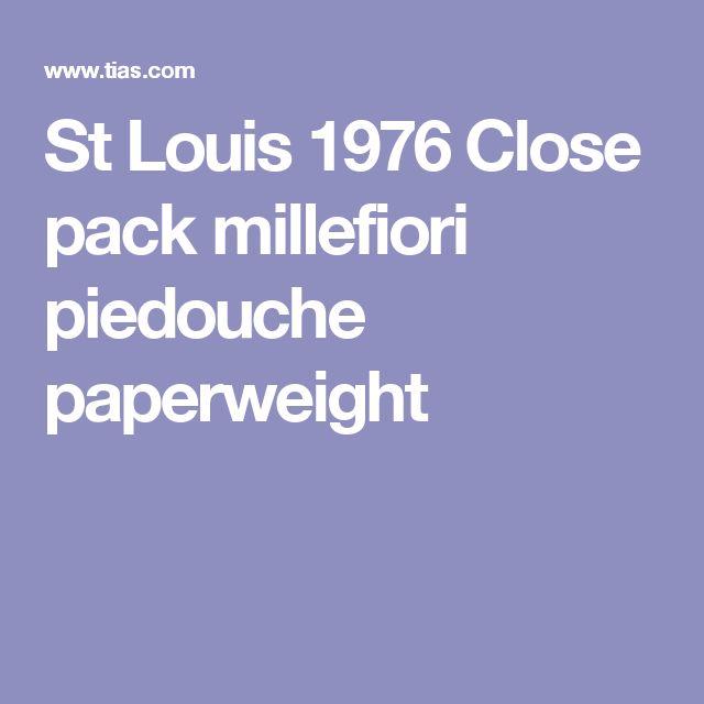 St Louis 1976 Close pack millefiori piedouche paperweight