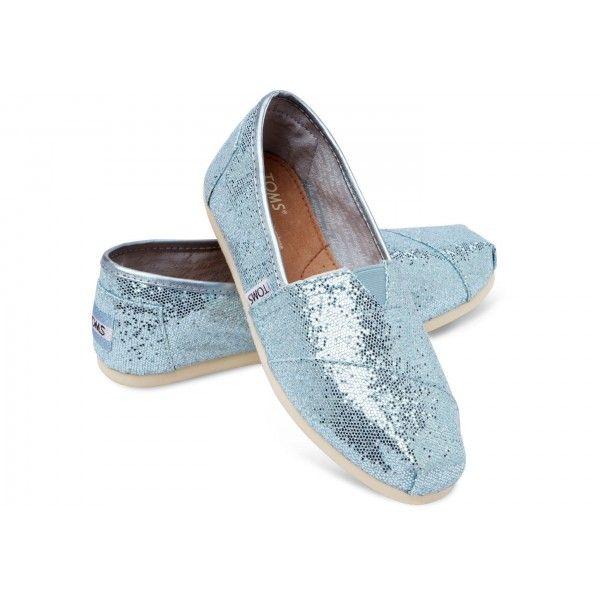 Blue Womens Glitter Classics