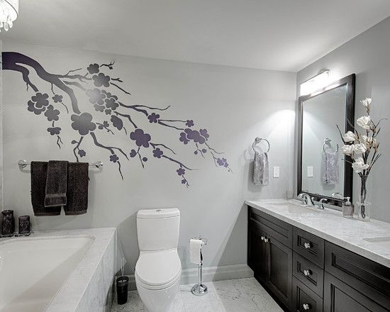 Inspiring Black And White Interior Design For Modern Bathroom Of Forest Hill Condo Completed With Accent