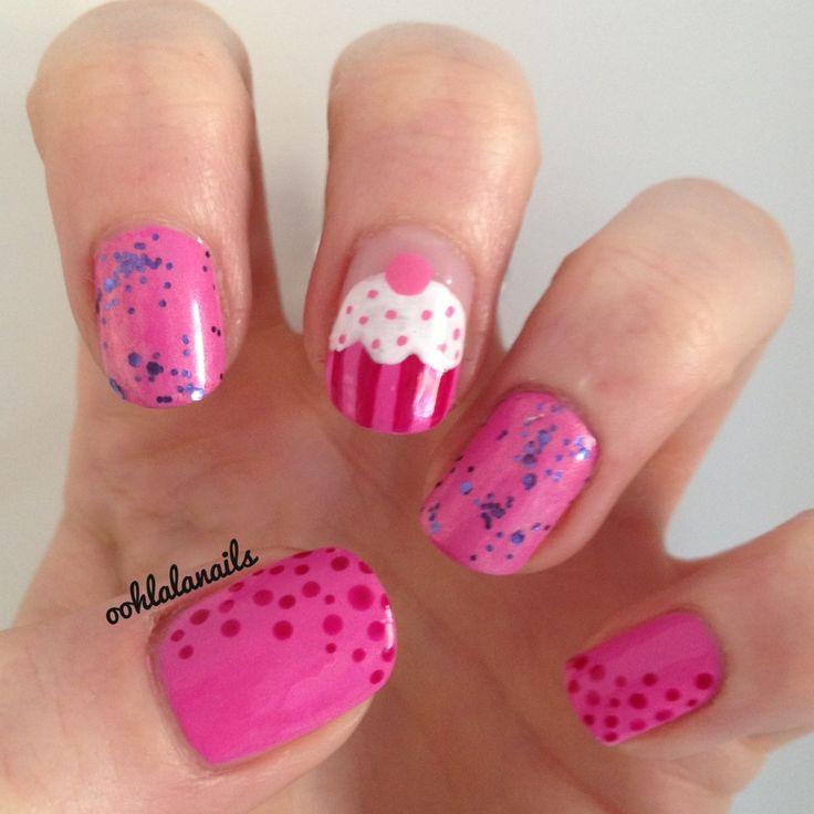 14 cupcake nails