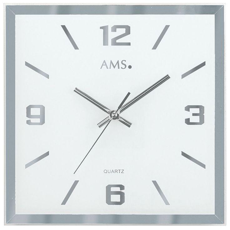 AMS 9324 Wanduhr Quarz, facettiertes und bedrucktes Spiegelglas http://cgi.ebay.de/ws/eBayISAPI.dll?ViewItem&item=161898749733&ssPageName=STRK:MESE:IT
