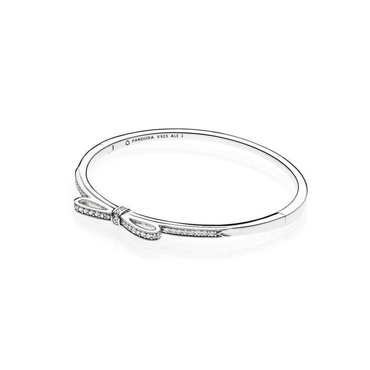 Sparkling Bow Bangle - Pandora UK | PANDORA eSTORE