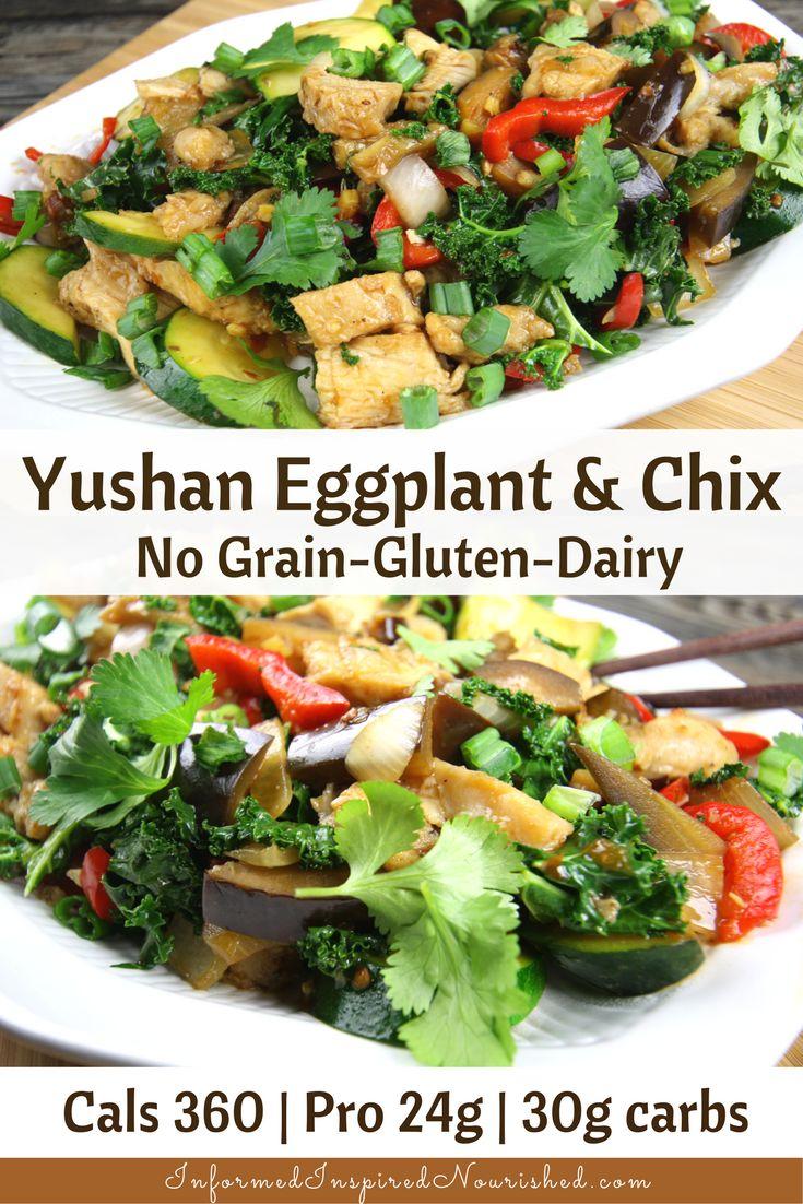 Yushan Eggplant with Chicken | InformedInspiredNourished