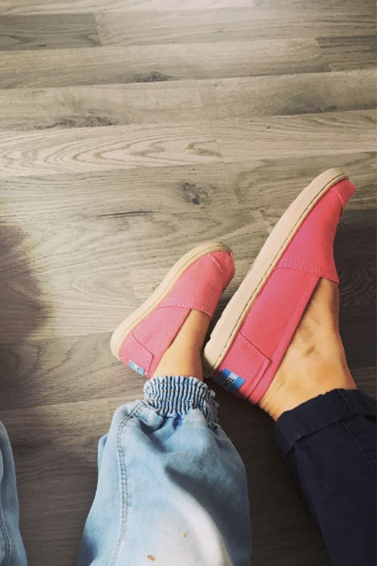 Pretty In Pink Click To Shop Pink Toms Slip On Shoes For
