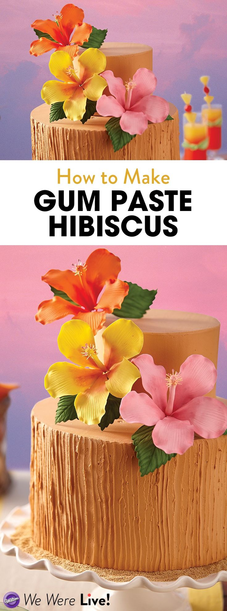 In this episode of our Facebook Live, you'll learn how to make pretty hibiscus flowers out of gum paste.