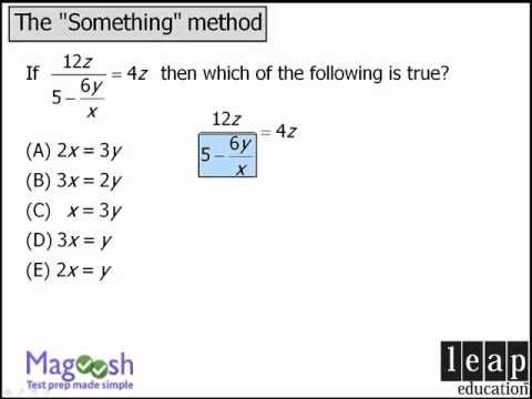 "▶ GRE Math Tricks: The ""Something"" Method for complicated equations - YouTube // https://www.youtube.com/user/MagooshGRE"