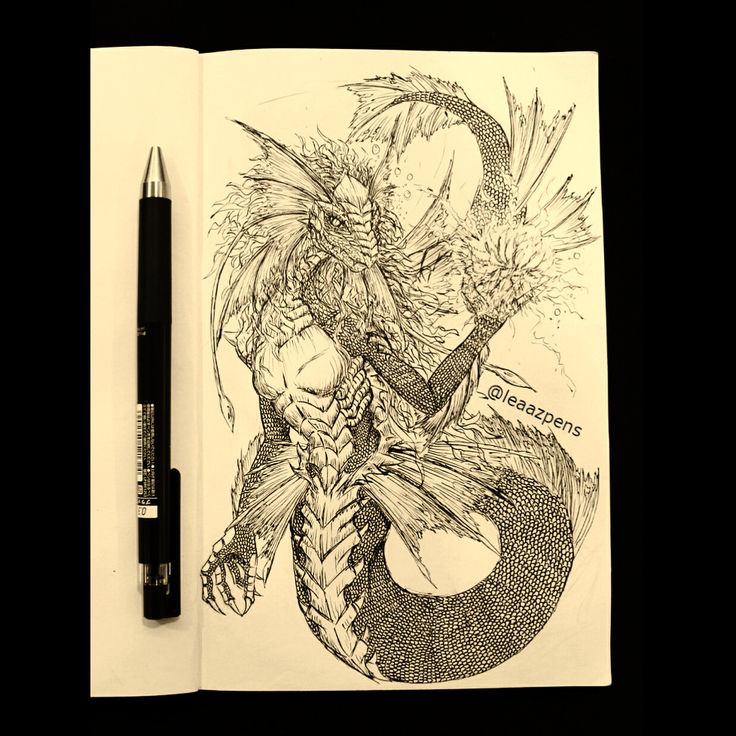 It's time to head back last year, to when I decided to start my ongoing dragon journal. This dragoness is based on the legendary dragon of Chini Lake in Pahang, Malaysia. I think I finished this piece in June. . . . #dragonjournal #dragonseries #ballpointpen #dailydragons #dragonart #lineart #creaturedesign #drawing #instaart #sketchbook #drawingpen #traditionalart  #tasikchini  #lakechinidragon #pahang #malaysia  #lakedragon #waterdragon #inkstagram