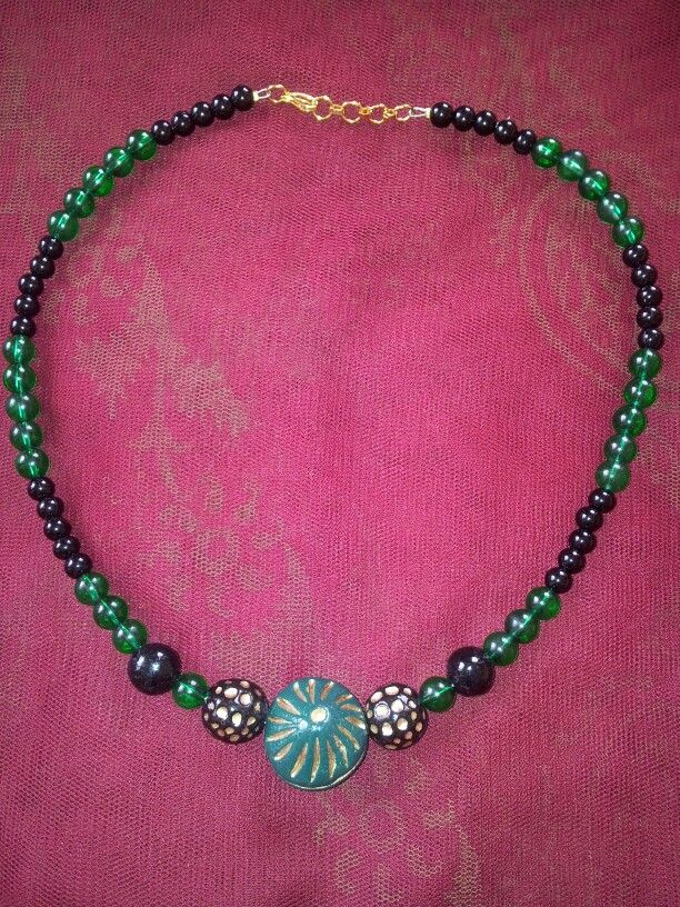 Teracotta necklace. Leesa Shah's creation!