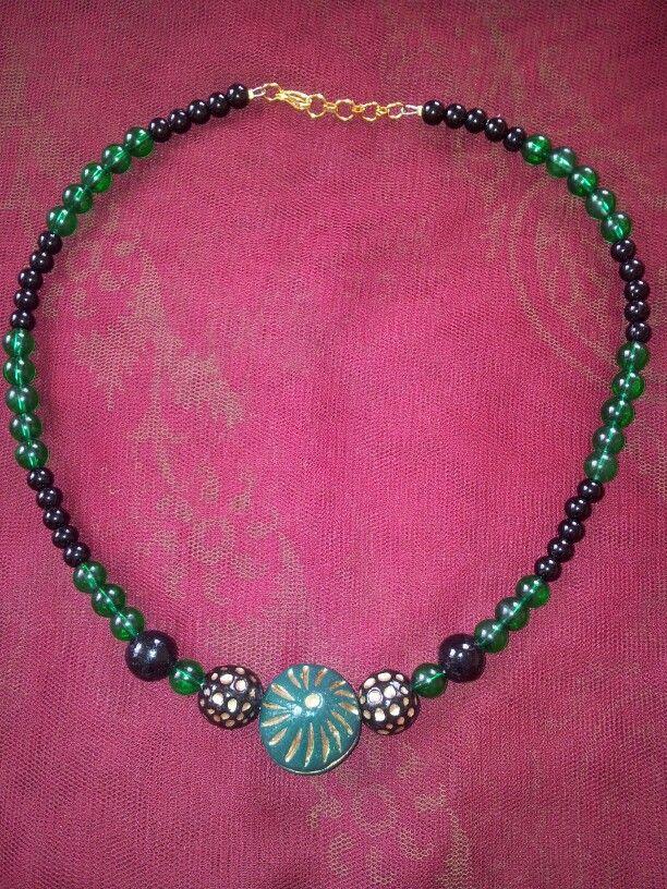 Teracotta necklace. Leesa Shah's creation!