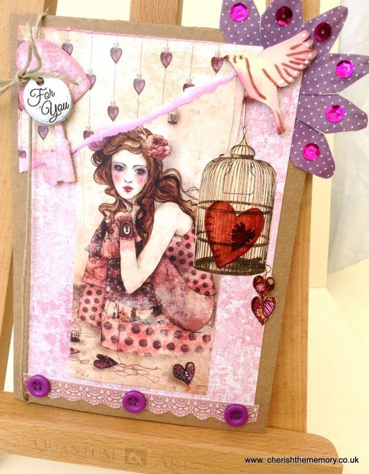 Beautiful SANTORO'S Willow card made by Karen, our new design team member