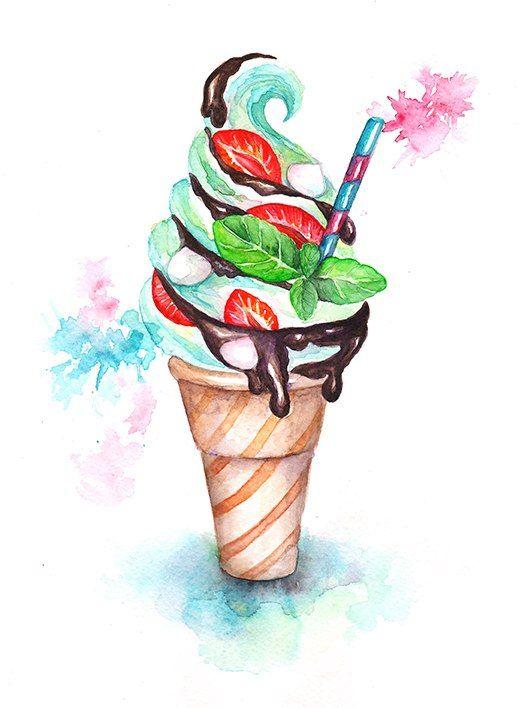 Рисунки необычное мороженое